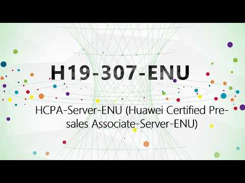 [H19-307 Passed] CertTree H19-307-ENU Huawei Certified Pre-sales Associate-Server study materials