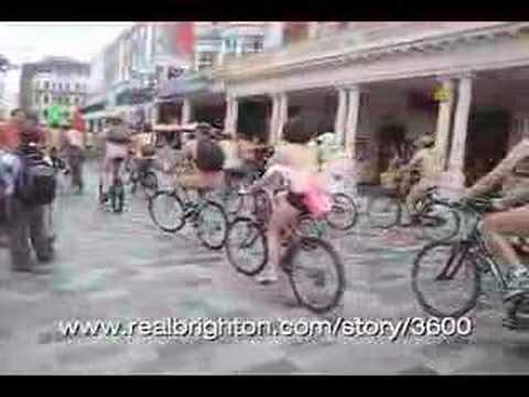 World Naked Bike Ride, Brighton 2008