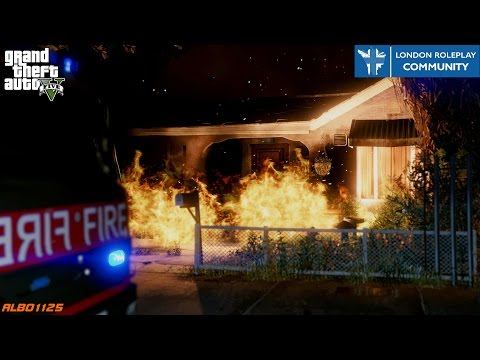 GTA5 LRPC - Fire at the Bank! - London Fire Brigade Online FiveM - London Roleplay Community #11