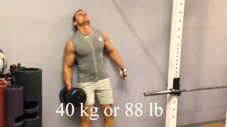 Curl against the wall 40kg