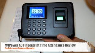 MVPower A6 Fingerprint Time Attendance Review