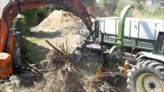 PTH 40.70 MULTICUT Pezzolato drum wood chipper powered by LAMBORGHINI tractor's PTO