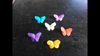 Easy craft: How to make paper butterflies