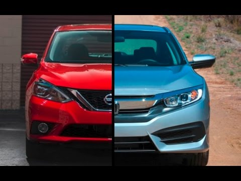2017 Nissan Sentra SR Turbo Vs. 2016 Honda Civic