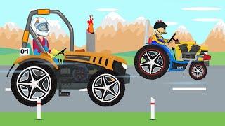 Tractor Tuning and Farmers Race - Children's Tales | Bajki Traktor i Rolnicy