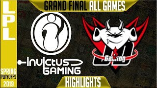 IG vs JDG Highlights ALL GAMES | LPL Playoffs Grand Final Spring 2019 Invictus Gaming v JDG Gaming