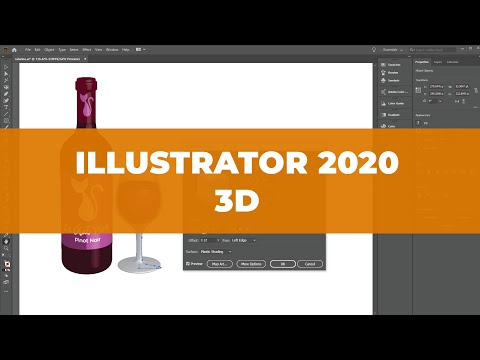 How to design 3D elements in Illustrator CC 2020