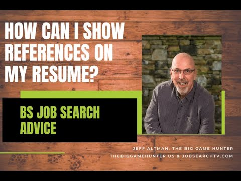 how can i show references on my resume job search radio youtube