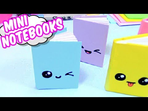 HOW TO MAKE MINI NOTEBOOKS! ONE SHEET OF PAPER!