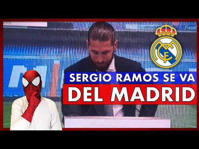 😱BOMBAZO MUNDIAL🤯 SERGIO RAMOS se LARGA del REAL MADRID
