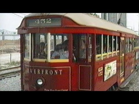 The Riverfront Streetcar Line - New Orleans 1989
