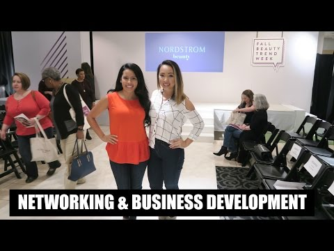 Networking Tips + Nordstrom Fall Beauty Trend Show | VLOG