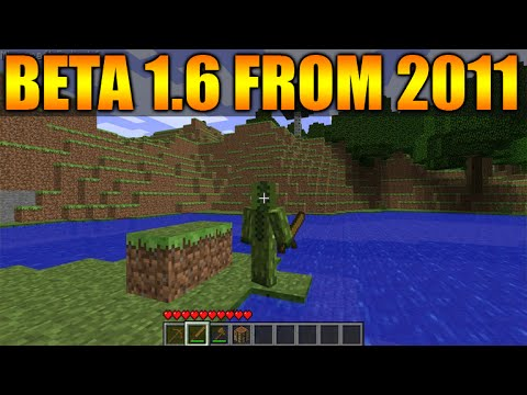 Minecraft Gameplay From 2011 2012 Old Beta 1 6 First