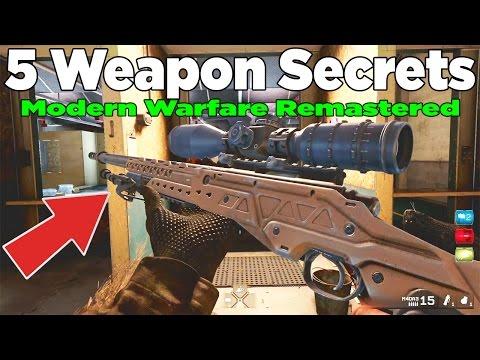 5 Hidden Weapon Secrets in Modern warfare Remastered (MWR 5 things)