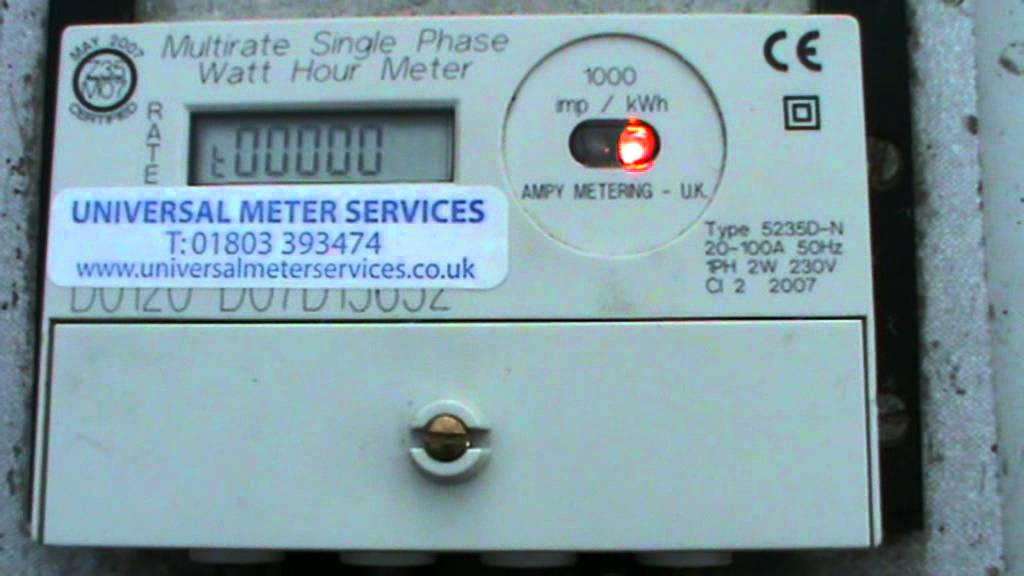 landis gyr electric meter how to read