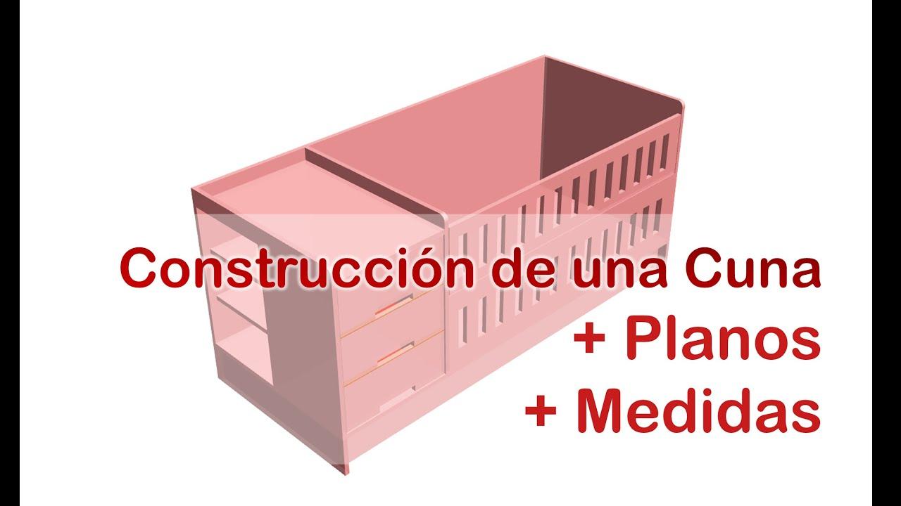 Dise o construcci n de una cuna planos de ensamblaje for Planos de construccion