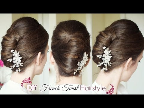 DIY French Twist Updo | Holiday Updo Hairstyles | Braidsandstyles12