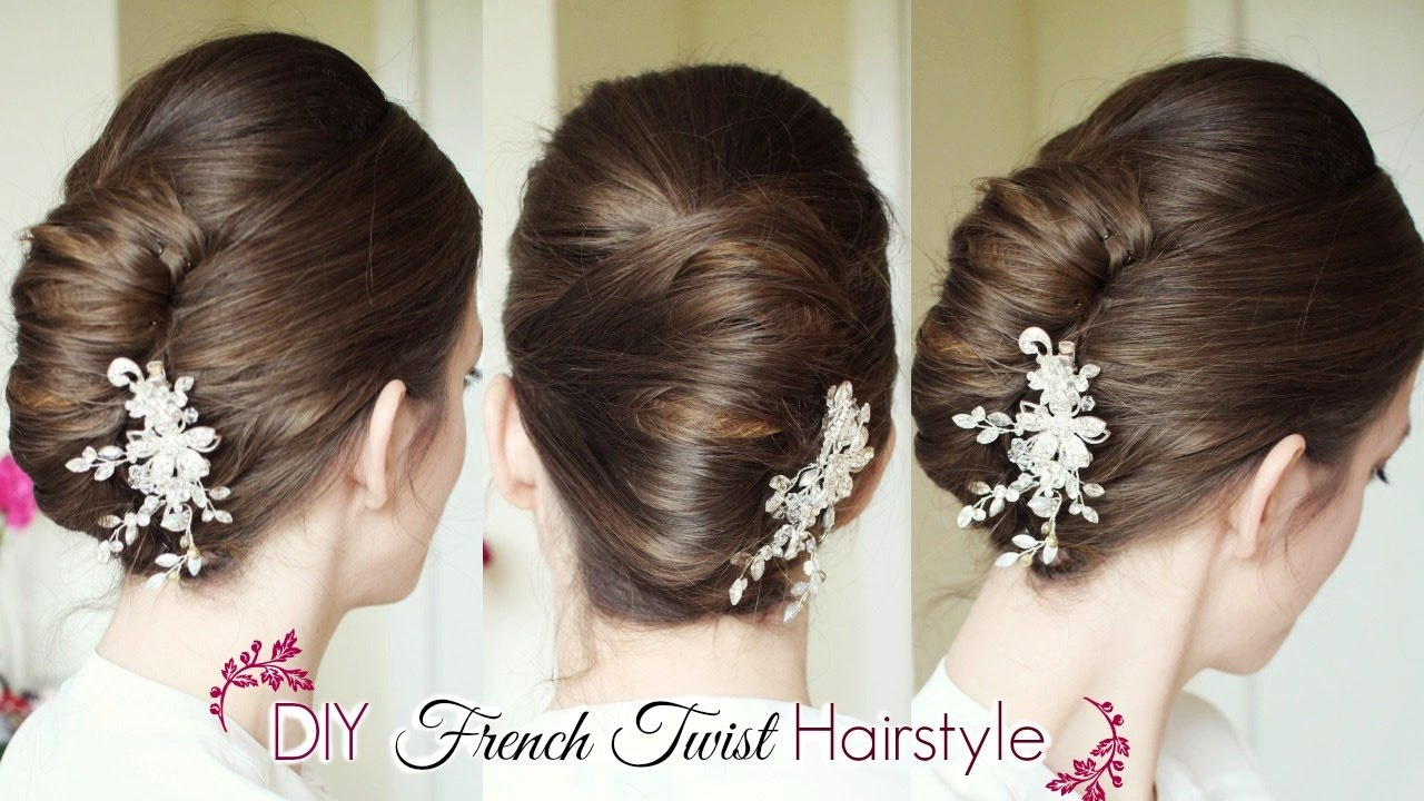 DIY French Twist Updo Holiday Updo Hairstyles - Hairstyle diy video