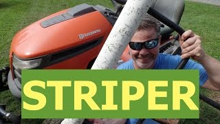 DIY Lawn Striper For Riding Mowers