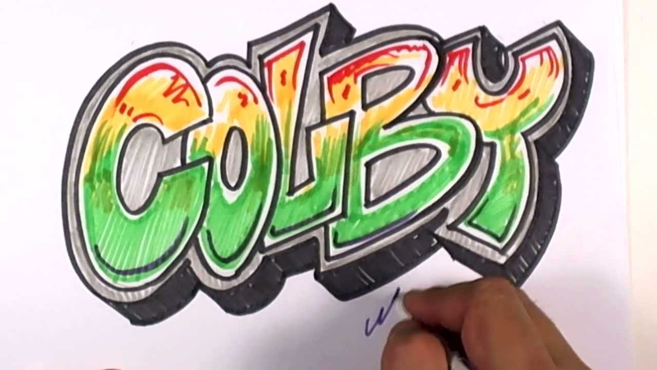 Graffiti writing colby name design 18 in 50 names promotion mat youtube