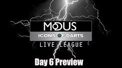 MODUS ICONS OF DARTS LIVE LEAGUE Day 6 Preview
