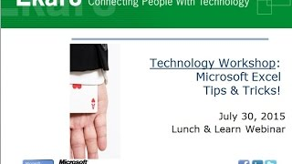 Microsoft Excel Tips and Tricks