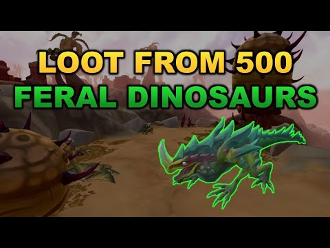 Loot From 500 Feral Dinosaurs [RuneScape 3]
