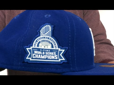 9d01e31e83652 Dodgers 5X  TITLES SIDE-PATCH  Royal Fitted Hat by New Era - YouTube