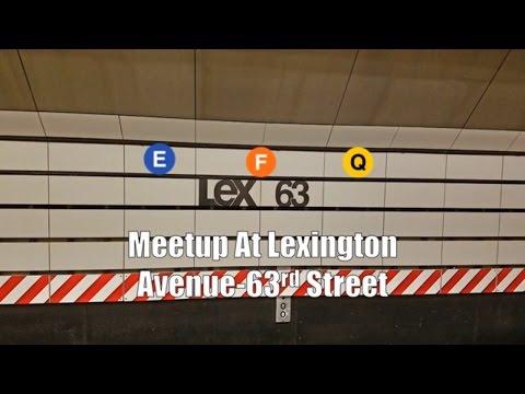 IND Subway: R160 (E), (F), & (Q) Trains @ Lexington Avenue-63rd Street