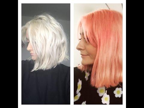 How I Dyed My Hair Peachy Pink Bleach London Awkward Peach And