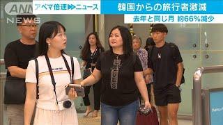訪日韓国人客が20万人割る 日韓悪化で便数減少影響(19/11/20)