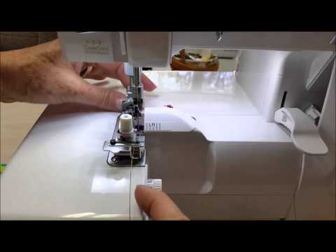 29 How to make wire edged fabric using the elastic foot on the Babylock serger