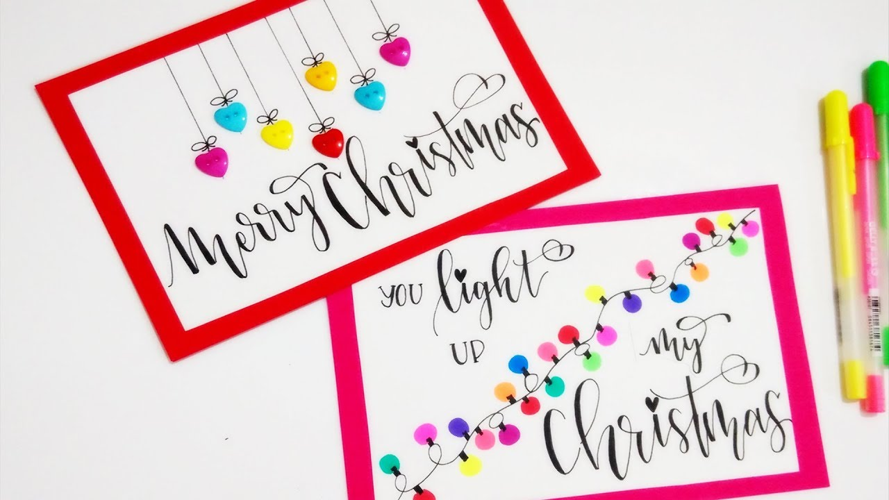 Easy Christmas Cards Designs.Diy Cute Easy Christmas Cards Christmas Decorations Christmas Diy For Kids