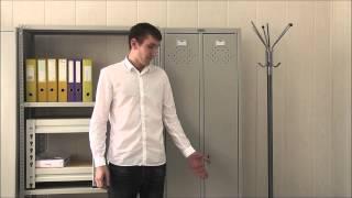 Смотреть видео шкаф металлический для одежды