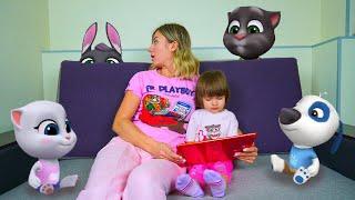 Арина играет в игру Мой Говорящий Том и его друзья | Ухаживаем за виртуальными питомцами