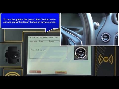 JAGUAR XJ KEYLESS KEY PROGRAMMING