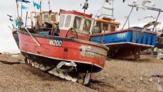 Hastings. Hastings Fishermen. The Stade Hastings Fishing Boats Hauled Onto Beach. RX419 NN200