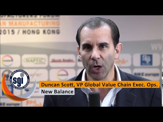 Duncan Scott, Vice President, External Products, New Balance at the World Manufacturers Forum 2015.
