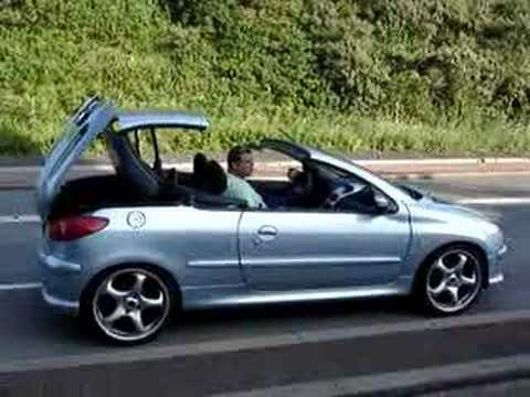 peugeot 206 cc opendak youtube. Black Bedroom Furniture Sets. Home Design Ideas