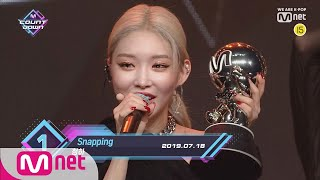 Top in 3rd of July, 'CHUNG HA' with 'Snapping', Encore Stage! (in Full) M COUNTDOWN 190718 EP.628