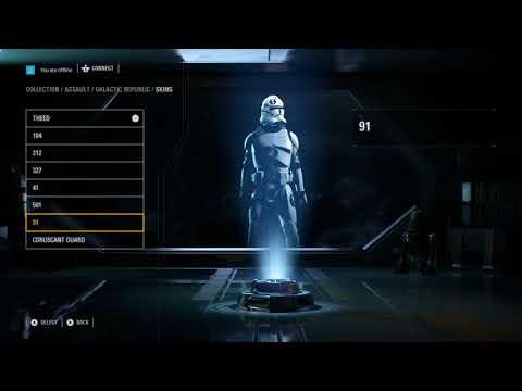 Star Wars Battlefront 2 - Hidden Character Customisation Menu (Clone Legions!)