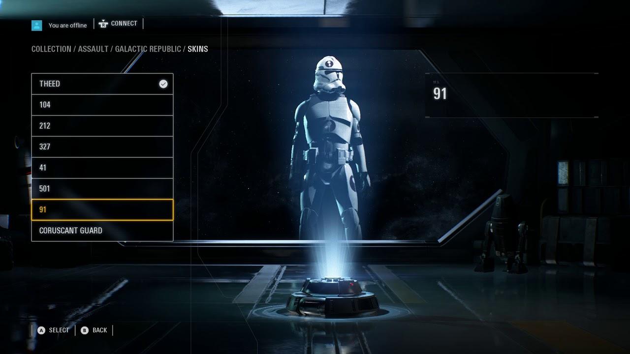 Star Wars Battlefront I, II, III: Датамайнер нашёл в Star Wars Battlefront 2 скрытое меню кастомизации персонажей