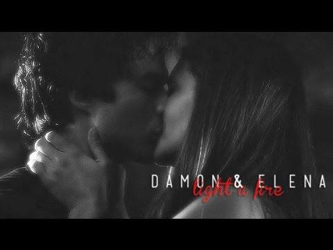damon & elena | light a fire {+6x01}