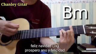 belajar gitar - feliz navidad