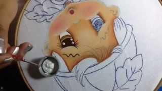 Pintura en tela niño calabaza # 1 con cony