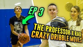 The Professor Teaches LEGENDARY Streetball Move To Rachel DeMita...Then She CROSSES A Stranger 😱 Video