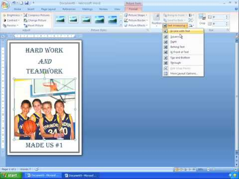 How to make a flyer on word 2007