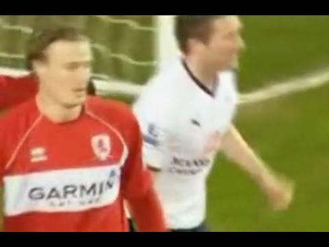 Tottenham Hotspur v Middlesbrough 2008-09 LENNON GOAL