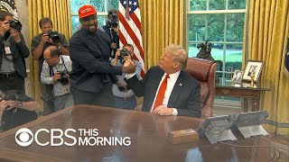 Kanye West goes hero worship on President Trump in Oval Office