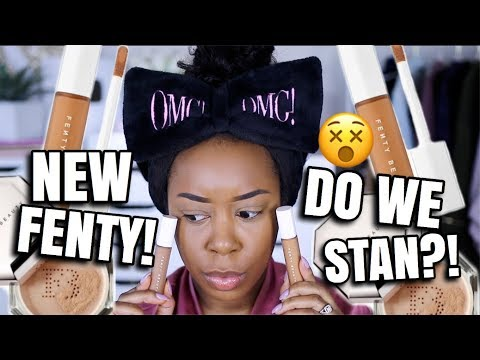 ABOUT TIME! FENTY BEAUTY PRO FILT'R CONCEALER & SETTING POWDER | FULL DAY WEAR TEST | Andrea Renee